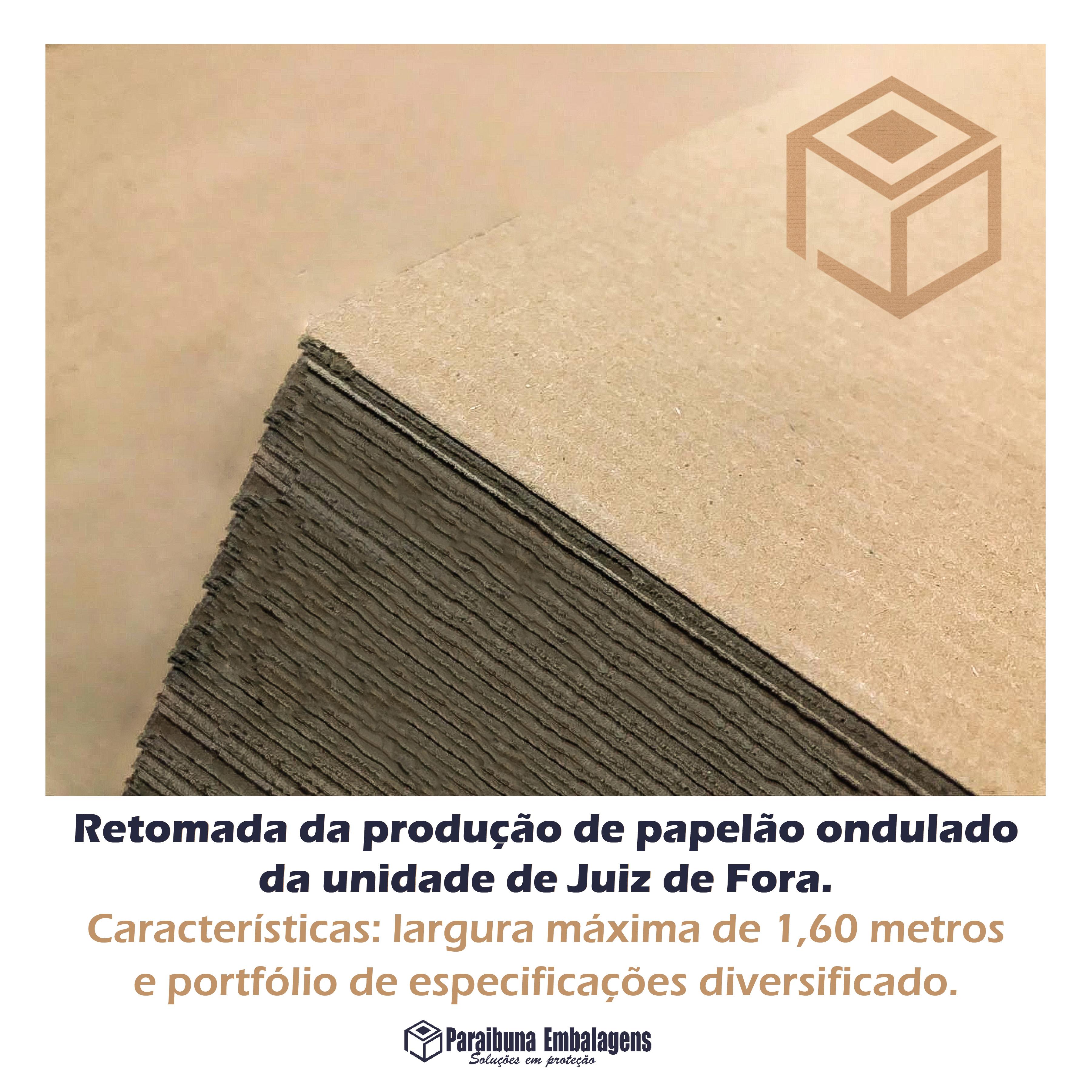 Paraibuna Embalagens retoma a produção de papelão ondulado na unidade de Juiz de Fora/MG.
