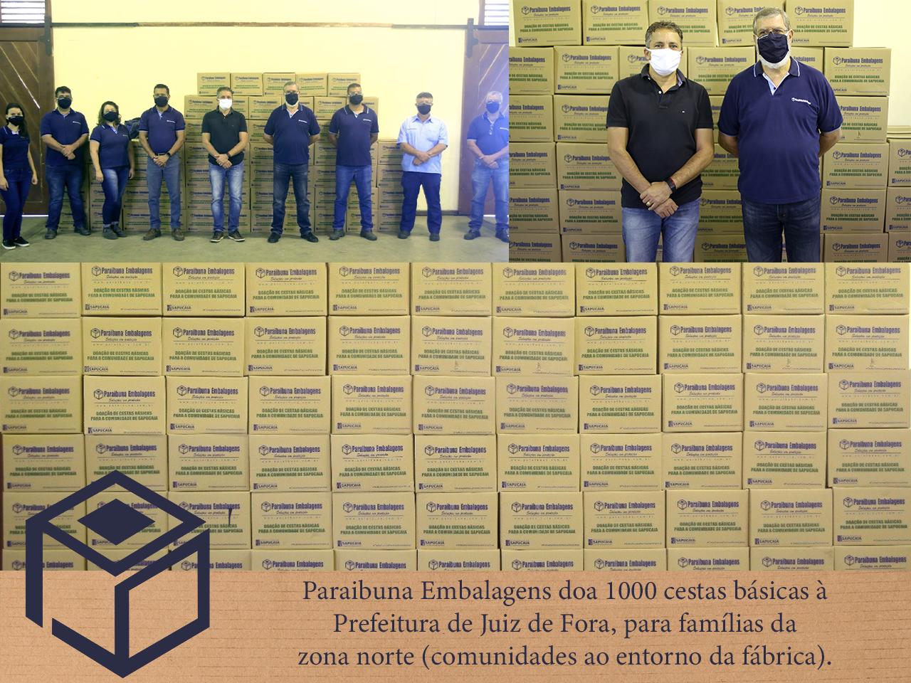 Paraibuna Embalagens doa 500 Cestas básicas em Sapucaia/RJ