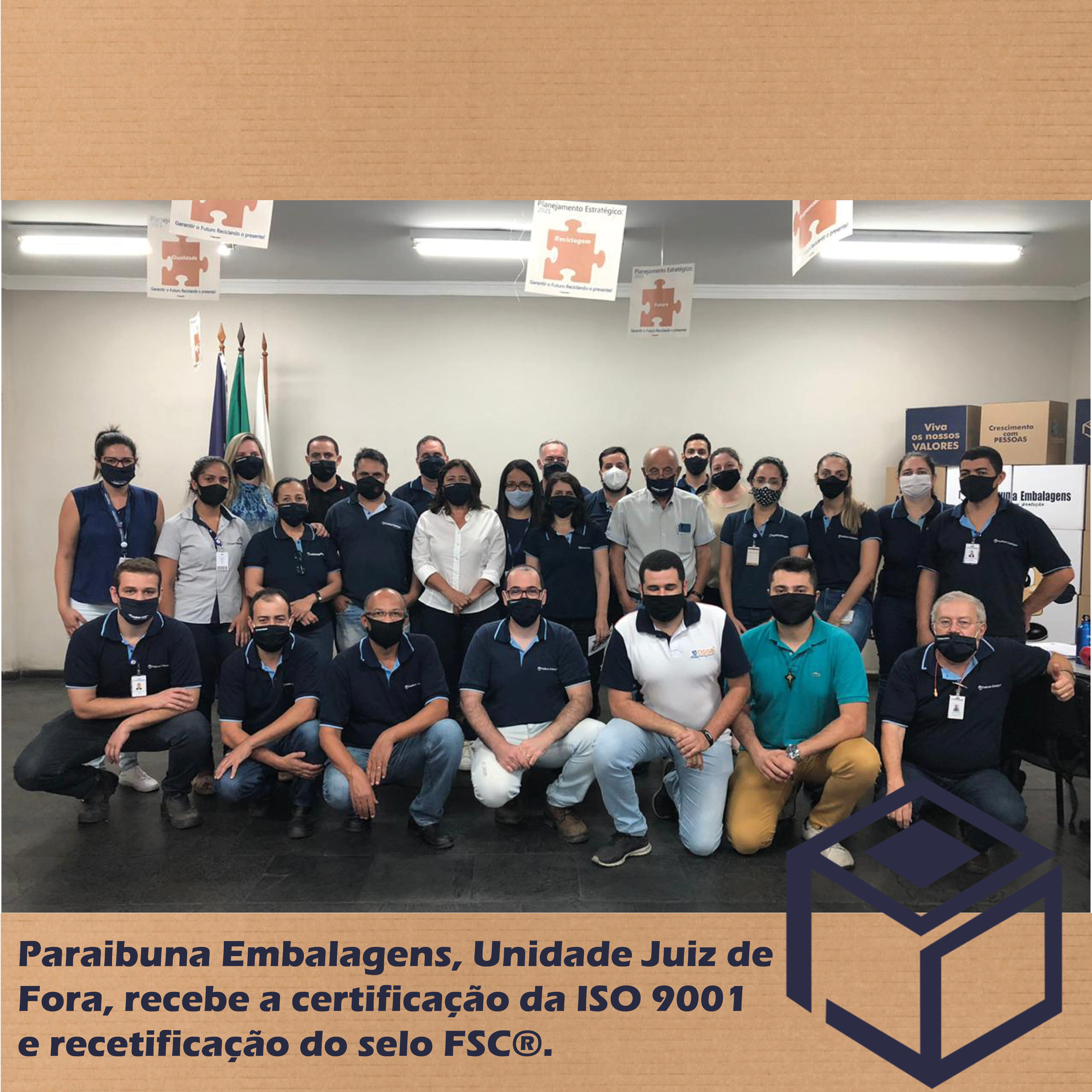 Paraibuna Embalagens Conquista a ISO 9001 e é recertificada com selo FSC®
