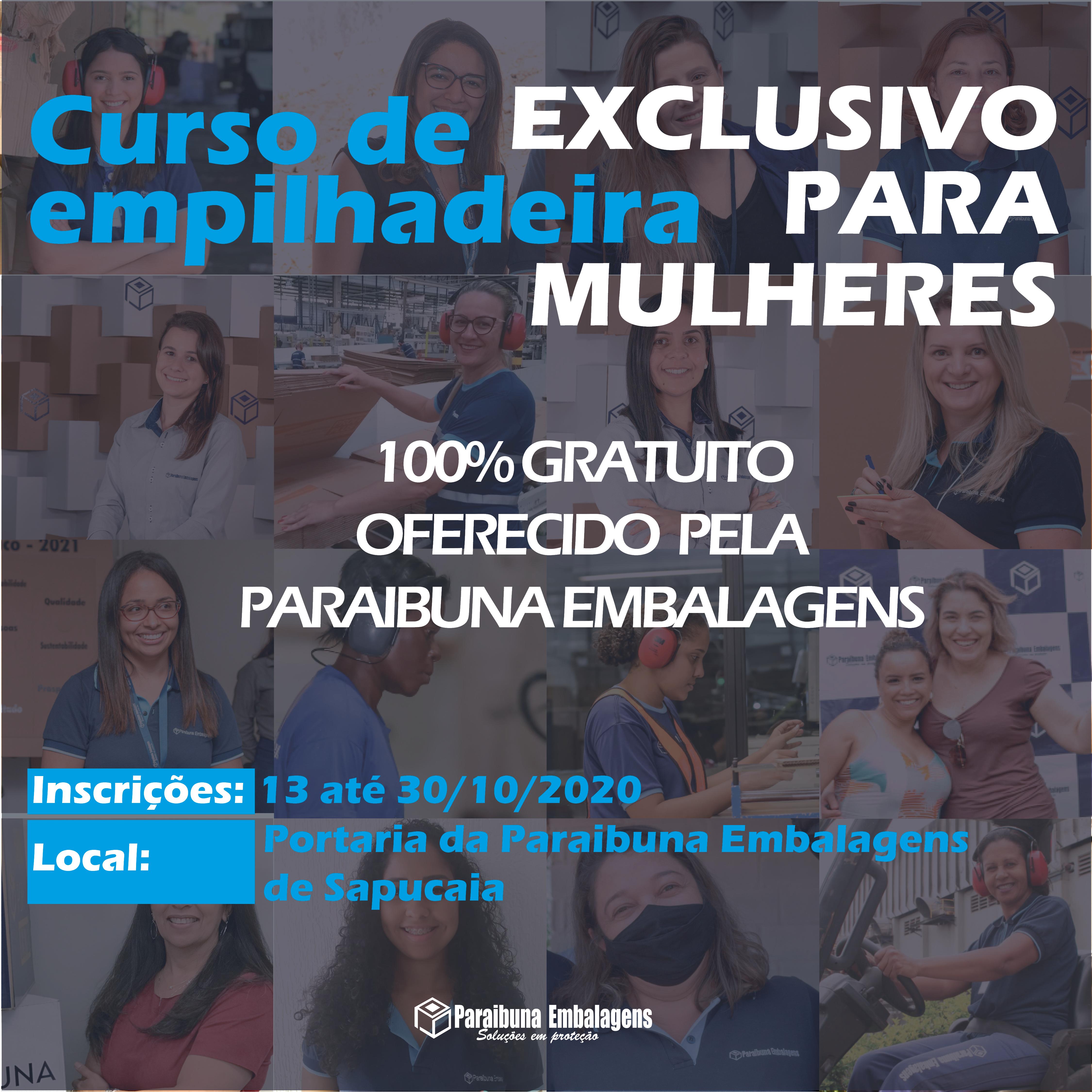 Paraibuna Embalagens oferece Curso de empilhadeira EXCLUSIVO para MULHERES.