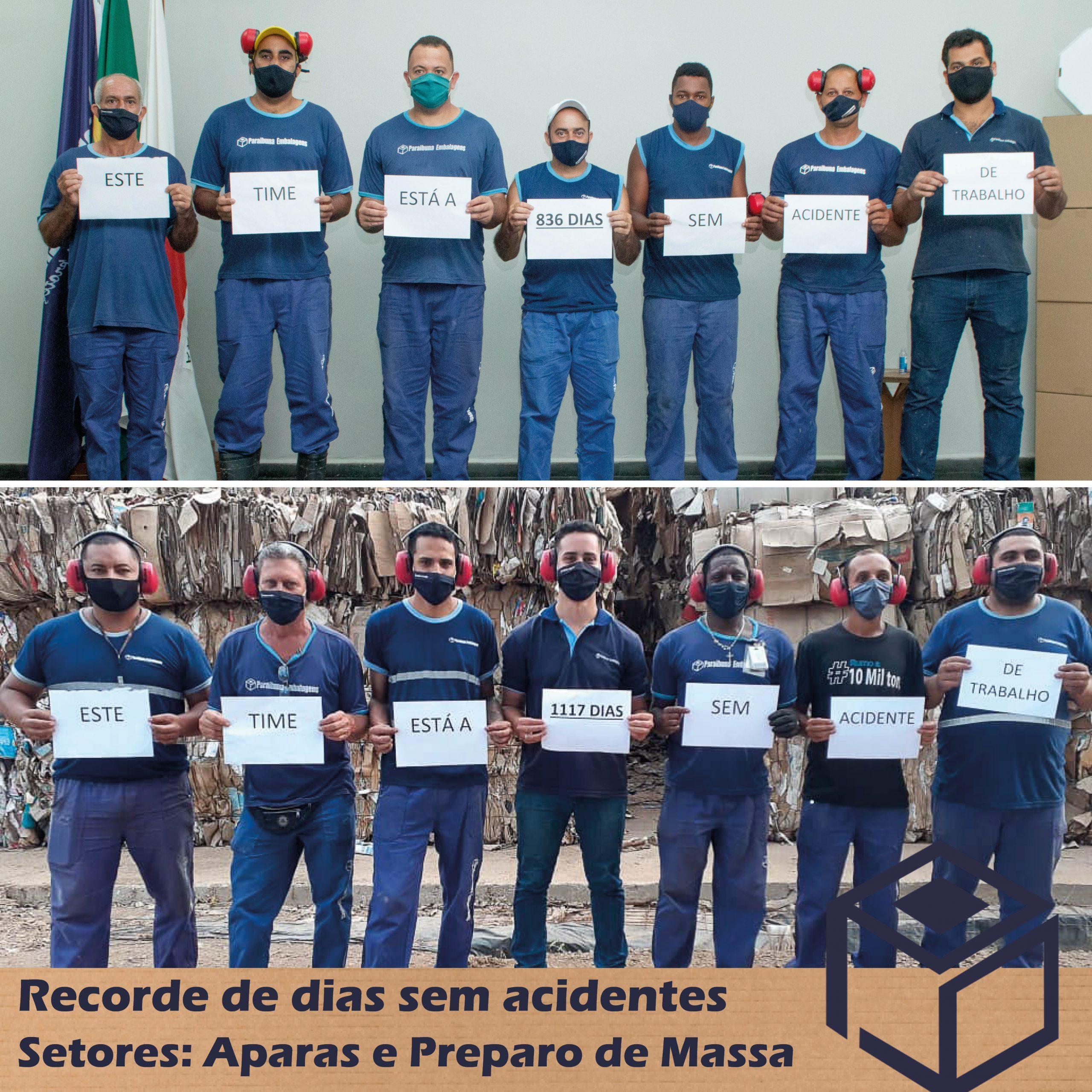 Paraibuna Embalagens Comemora recorde de Dias Sem Acidentes.