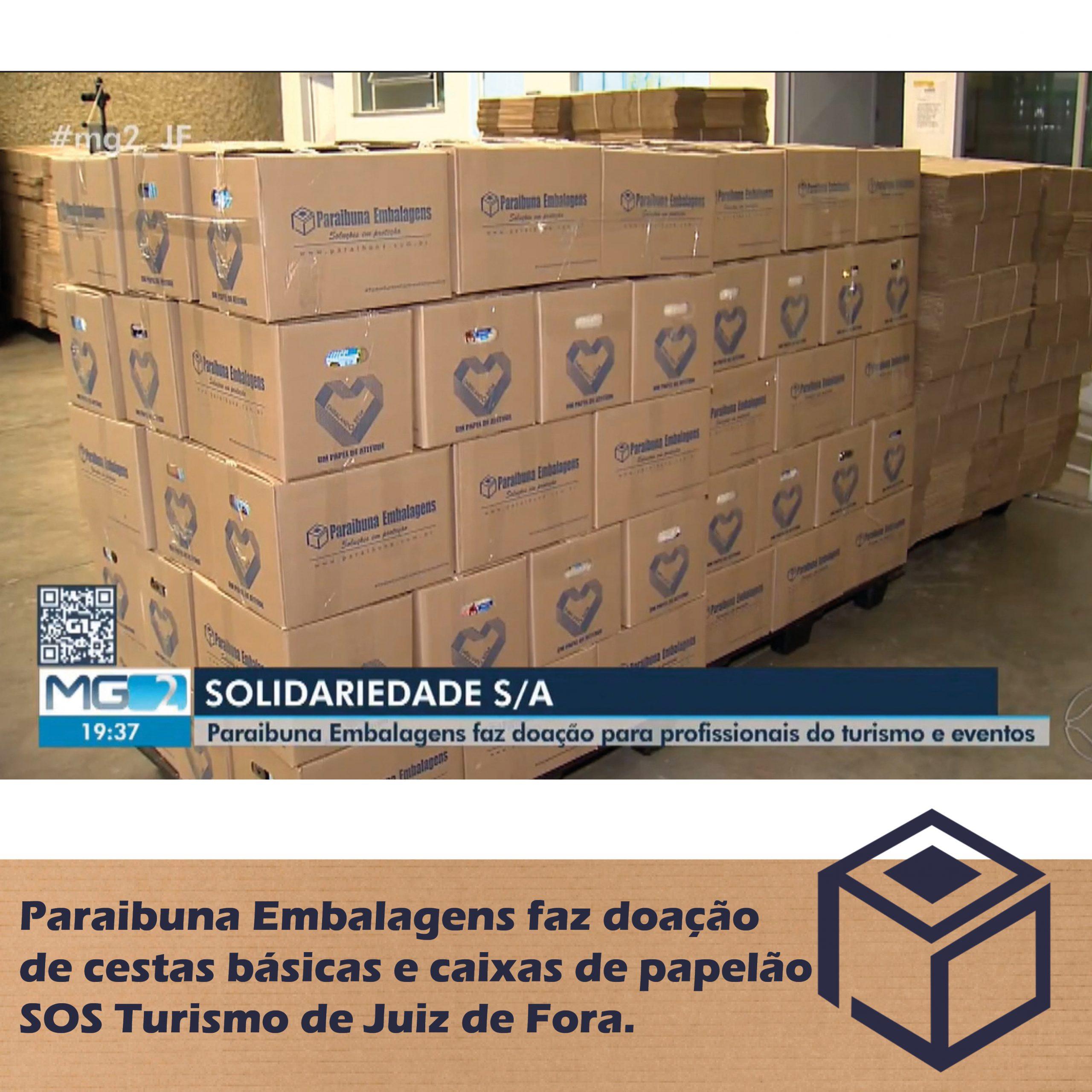 Paraibuna Embalagens faz doação de cestas básicas e caixas de papelão – SOS Turismo de Juiz de Fora.