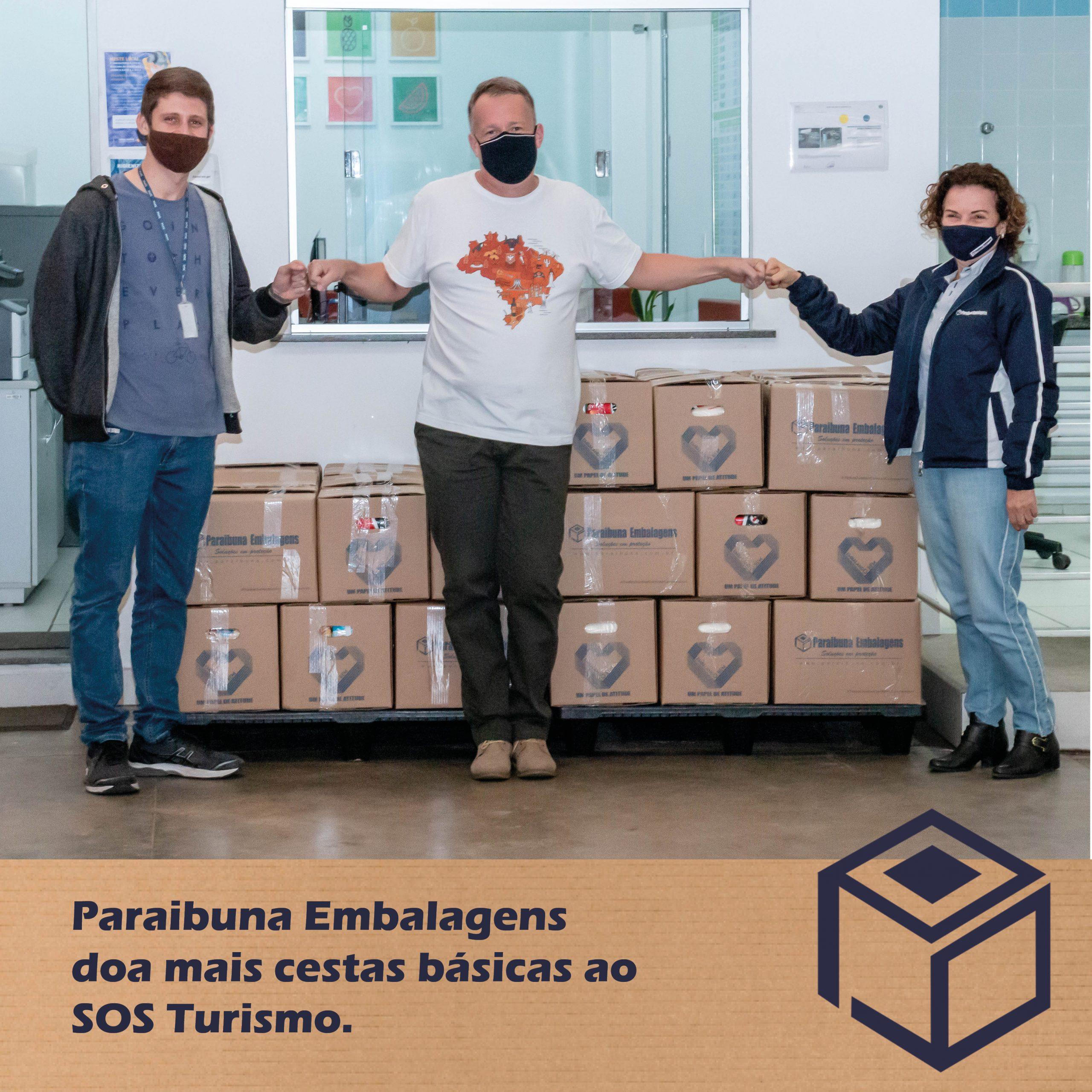 Paraibuna Embalagens doa mais cestas básicas ao SOS Turismo