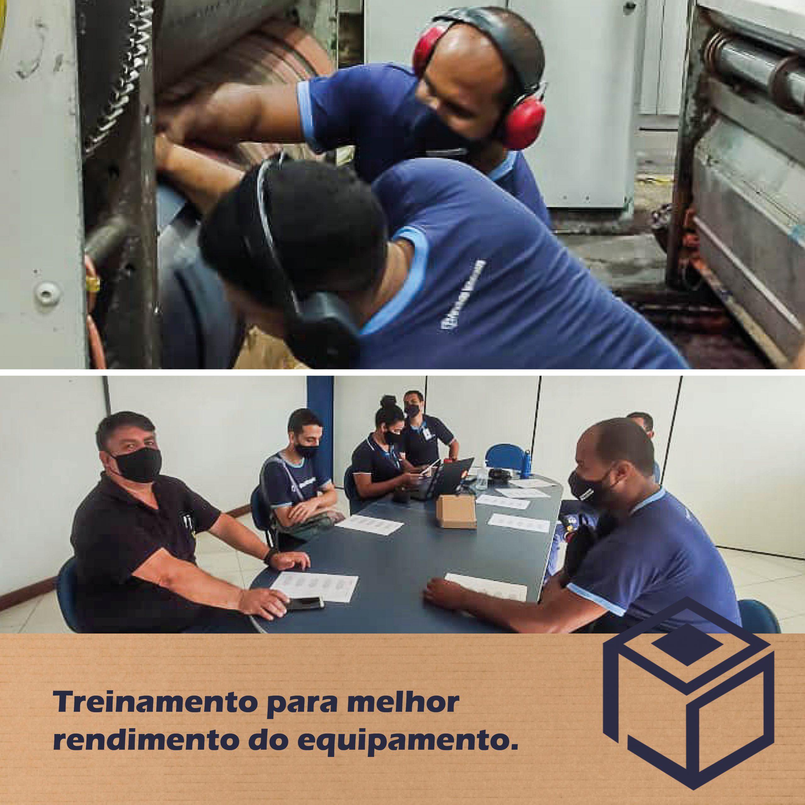 Treinamento para melhor rendimento do equipamento.