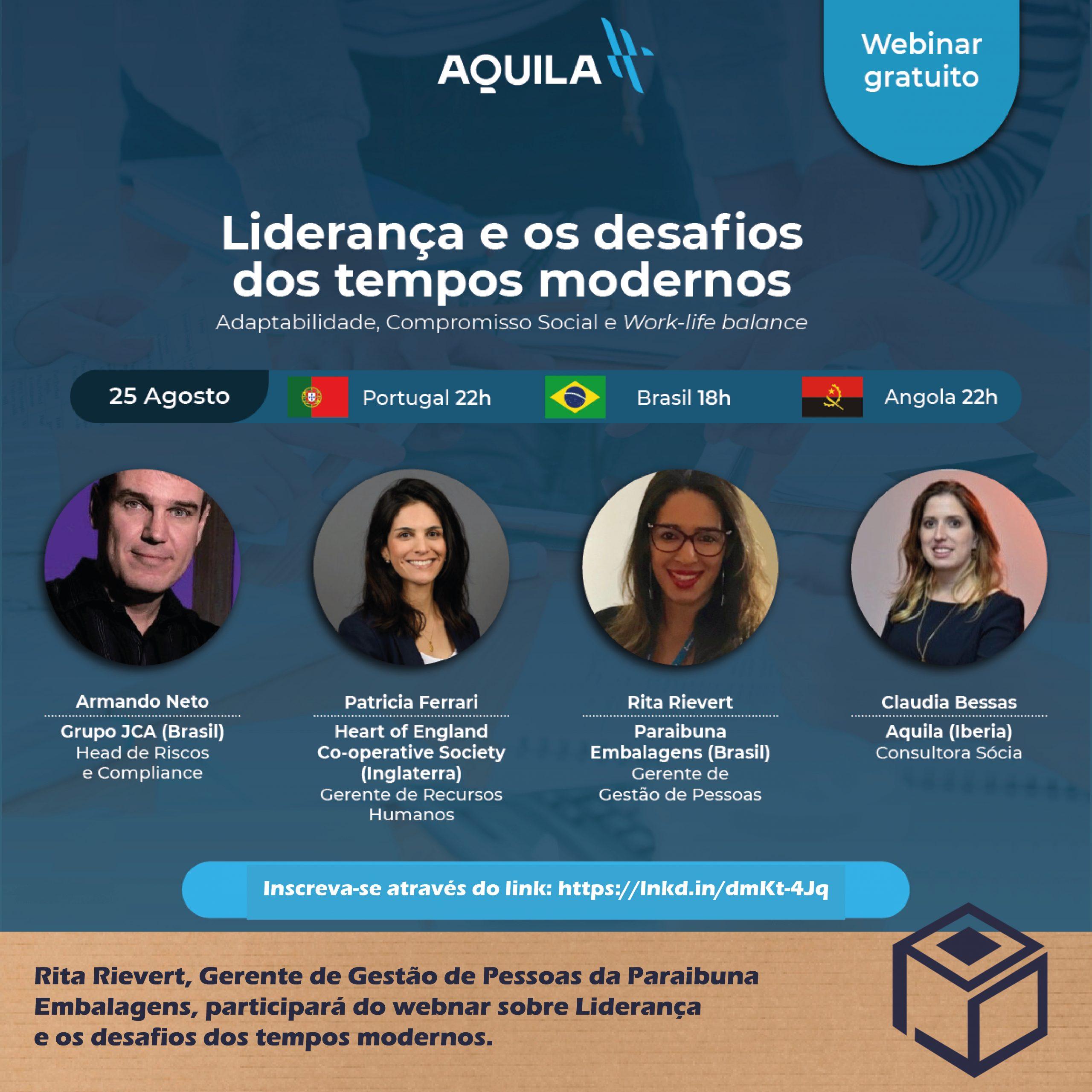 Participação da Webnar sobre Liderança e os desafios dos tempos modernos.
