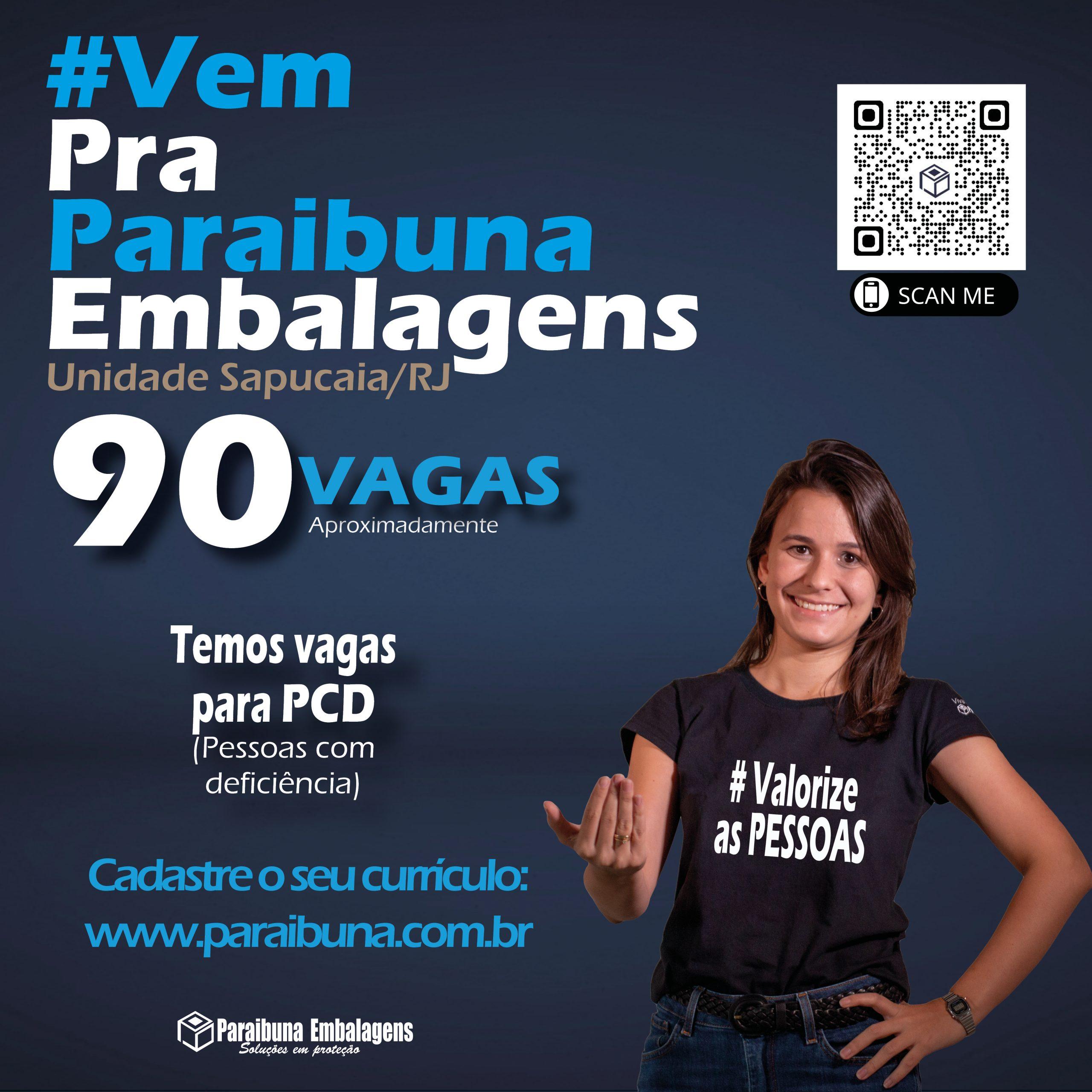 Paraibuna Embalagens está com aproximadamente 90 vagas de emprego: